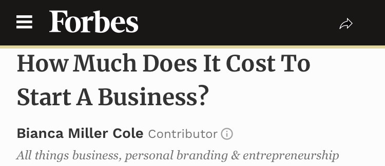 How Much Does It Cost To Start A Business? - Bianca Miller